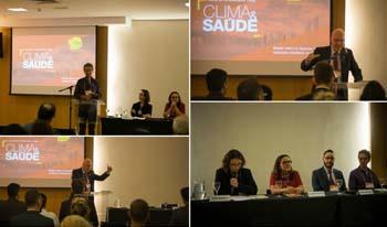 Debatedores no Encontro Internacional sobre Clima e Saúde