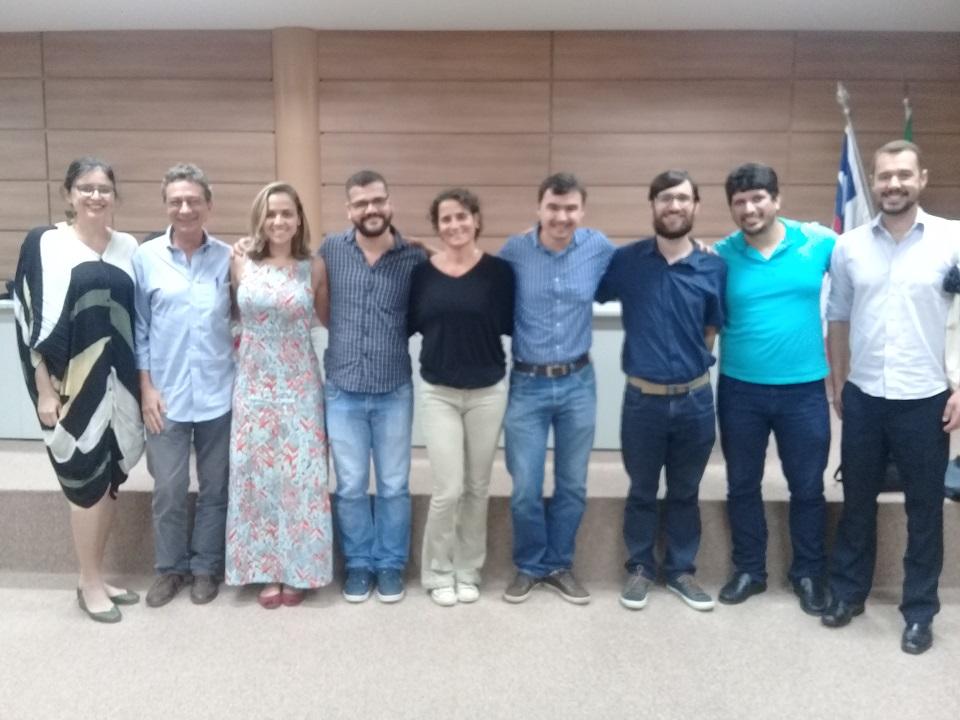 Organizadores e convidados do seminário Mudanças Climáticas, Desastres relacionados à Água e Saúde (Bahia)