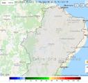Mapa representa site de Previsão para o Semiárido Brasileiro (CPTEC/Inpe)