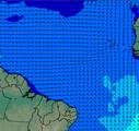Mapa que representa site de Precipitação Oceânica na Costa do Nordeste