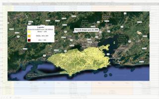 Mapa Retrato da Dengue no Rio de Janeiro